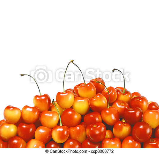 Berries ripe cherry on a white isolated background. Studio - csp8000772