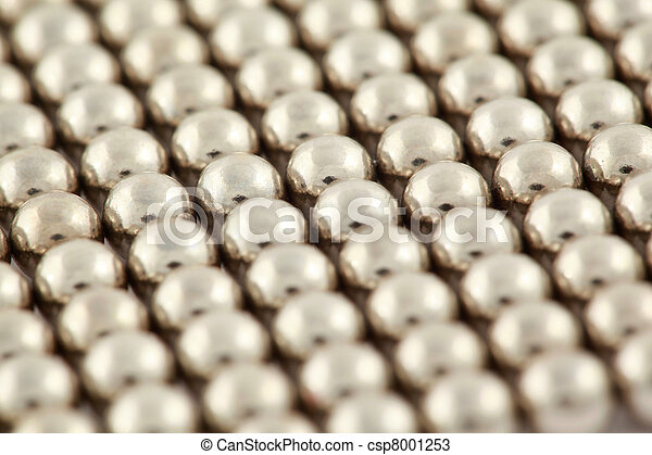Silvery beads are interlaced together - csp8001253