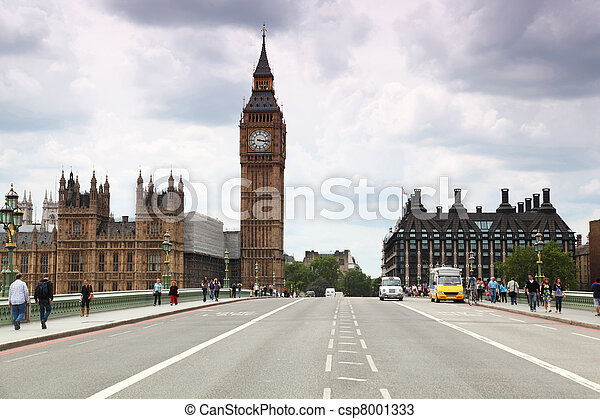 Westminster Cathedral and Big Ben clock tower  - csp8001333