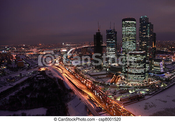 MOSCOW - DECEMBER 10: Moscow center of  international business