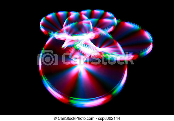 Surface with light painting streaks during rotation - csp8002144