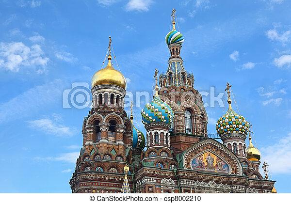 Church of  Savior on Blood - very famous landmark in Saint Petersburg, Russia, Europe - csp8002210