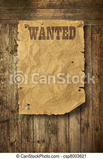 Wood background Wild West style - csp8003621
