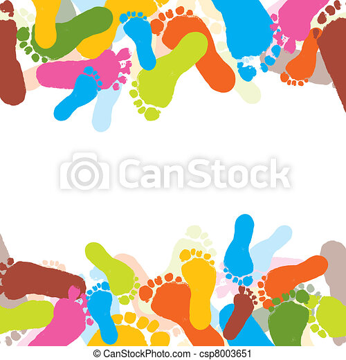 Prints of foots of the child, vector - csp8003651
