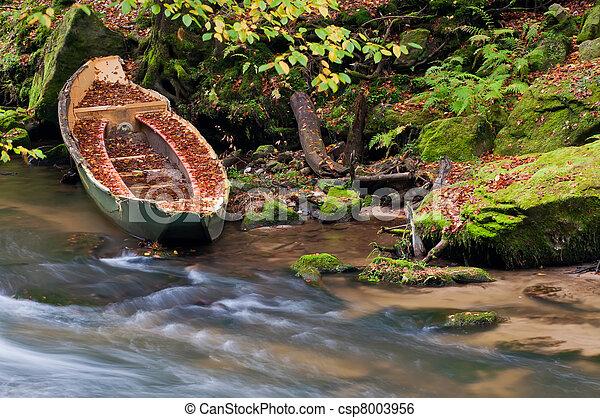 Sunken Rowboat - csp8003956