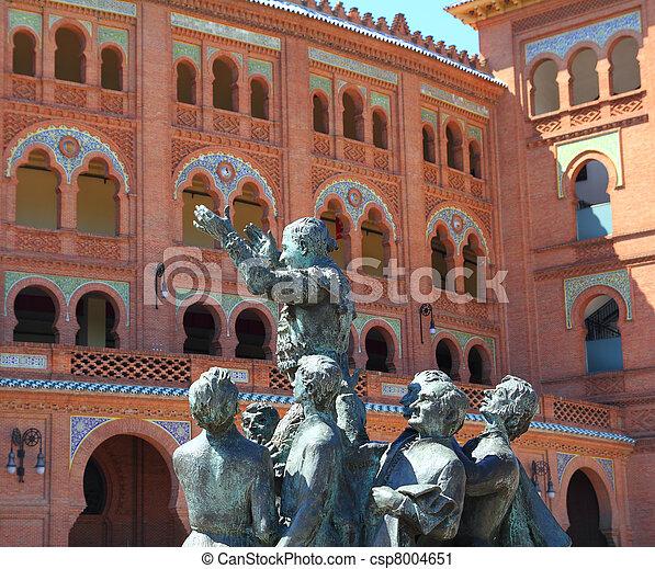 Madrid bullring Las Ventas Plaza Monumental - csp8004651