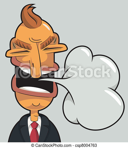 Angry businessman speaking - csp8004763