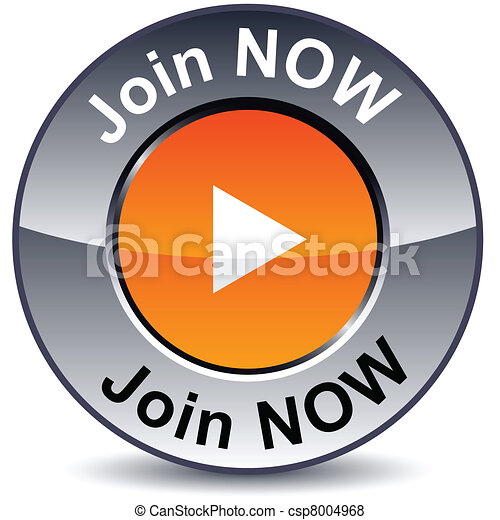 Join now round button. - csp8004968