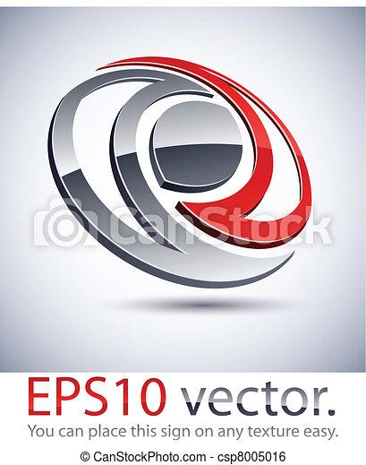 3D modern logo icon. - csp8005016