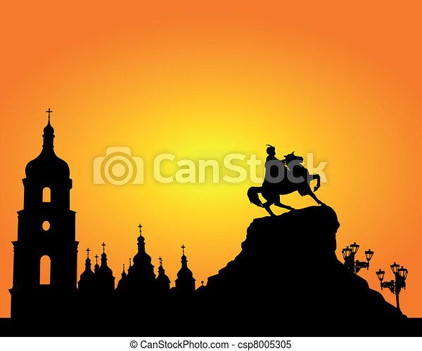 Sophia Square in Kyiv - csp8005305