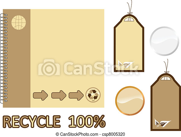 Recycle material book and sale tags - csp8005320