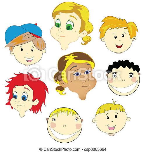 children faces - csp8005664