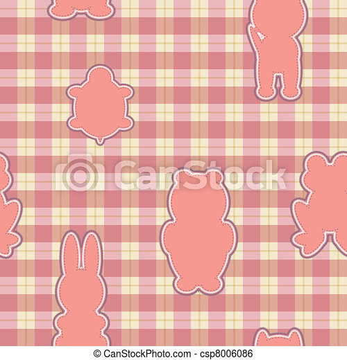 Pink applique in the shape of animal - csp8006086