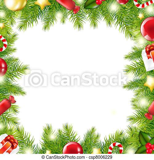 Christmas Tree Border - csp8006229