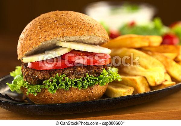 Vegetarian lentil burger - csp8006601