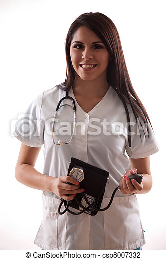 Pretty hispanic twenties healthcare worker - csp8007332