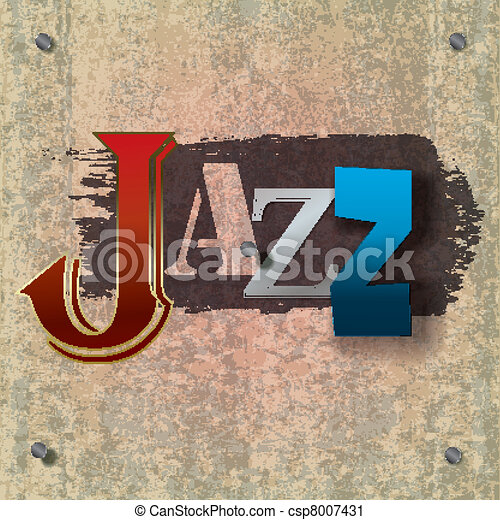 Abstract jazz music background - csp8007431