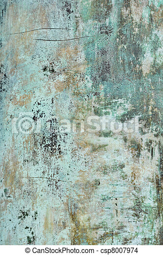 Blue Grunge Metal Texture Background - csp8007974