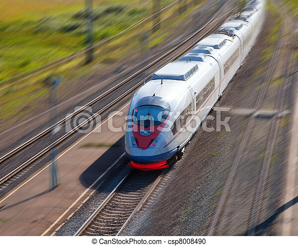 High-speed passenger train  - csp8008490