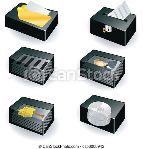 collection of boxes - document icon - csp8008942