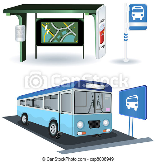 Bus station images - csp8008949
