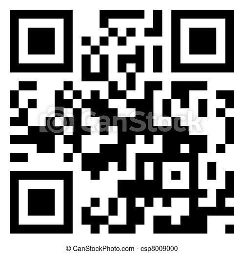 Merry christmas!!! data in qr code. EPS 8 - csp8009000