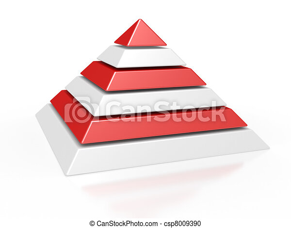 pyramid with six colored levels - csp8009390