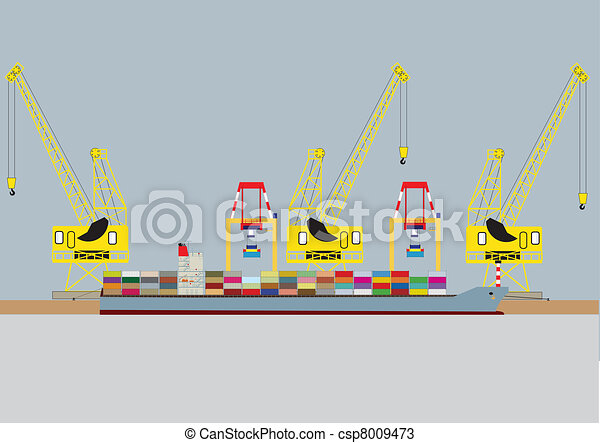 Container Ship - csp8009473