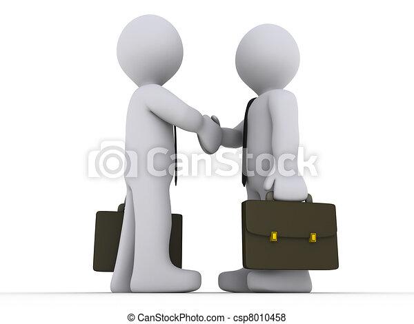 Businessmen shake hands - csp8010458