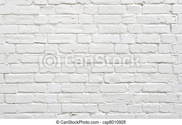 White brick wall - csp8010928