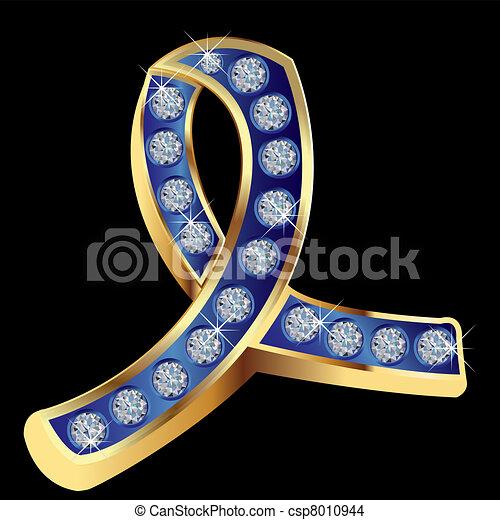 Child abuse awareness ribbon - csp8010944