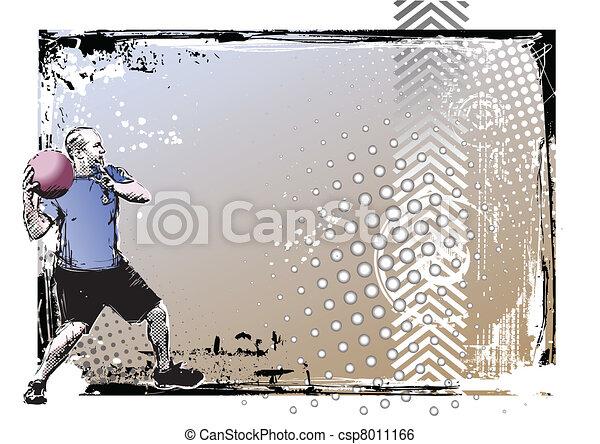 dodgeball poster - csp8011166