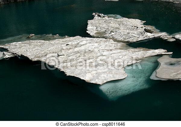 Alpine Lake Alpine latitudes - csp8011646