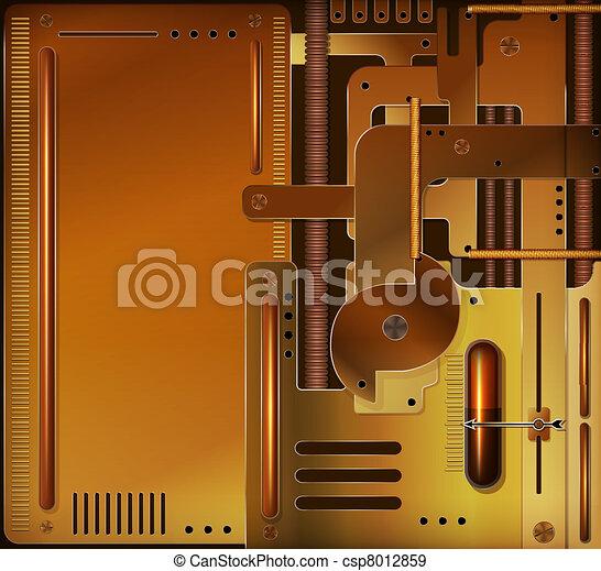 Vector mechanical background, steam - csp8012859