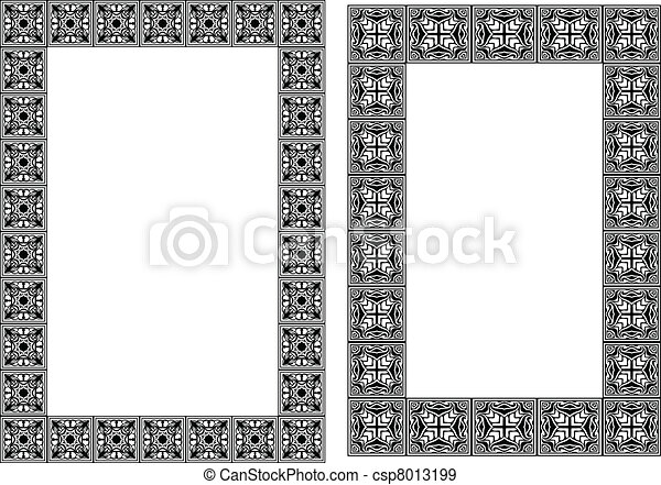 Art nouveau simple vector frames - csp8013199