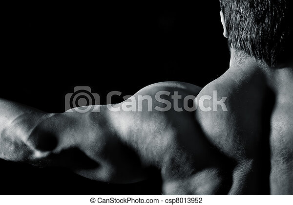 bodybuilding man - csp8013952