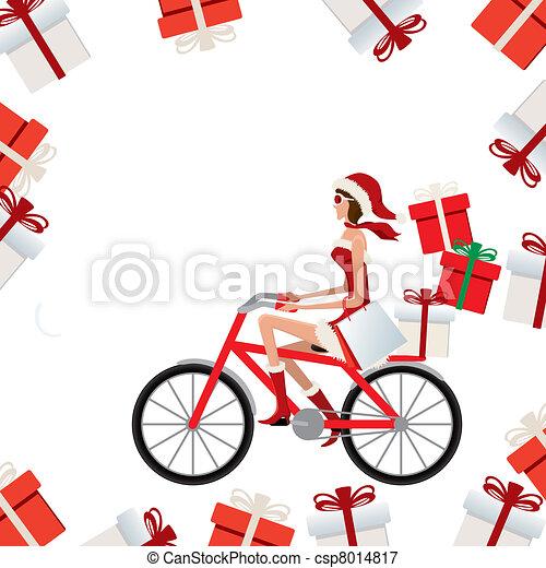 Santa claus woman - csp8014817