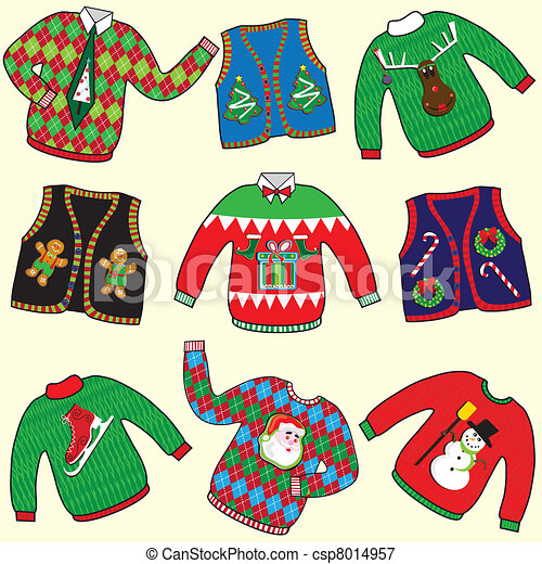 UGLY Christmas Sweaters - csp8014957