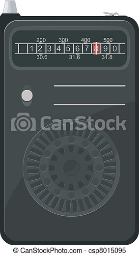 Vector illustration of an old portable radio - csp8015095