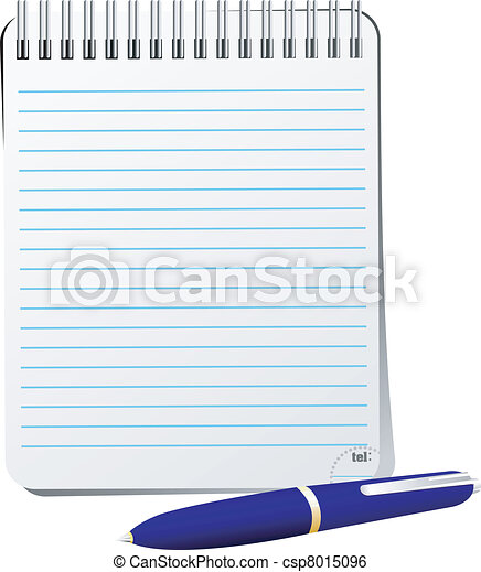 Vector illustration of notebook with pen - csp8015096