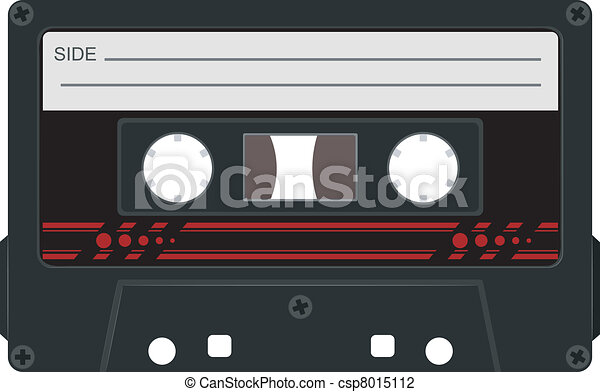 Vector illustration of audio cassettes - csp8015112