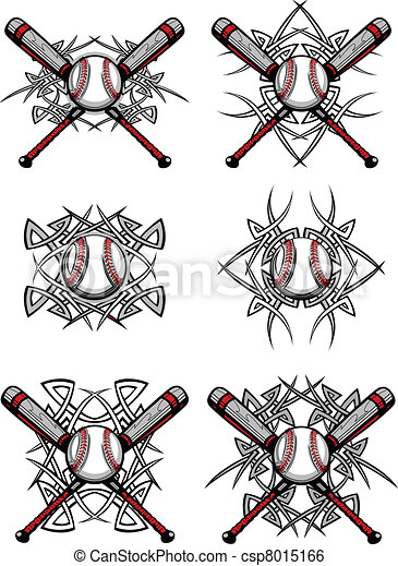 Baseball Softball Tribal Graphic Im - csp8015166