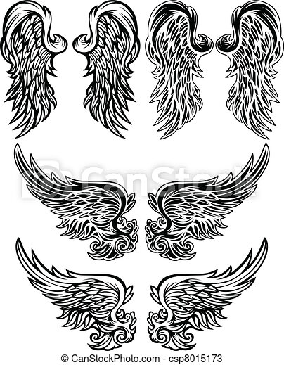 Angel Wings  Vector illustrations - csp8015173