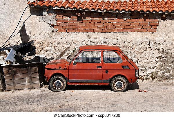 old european deserted automobile  - csp8017280