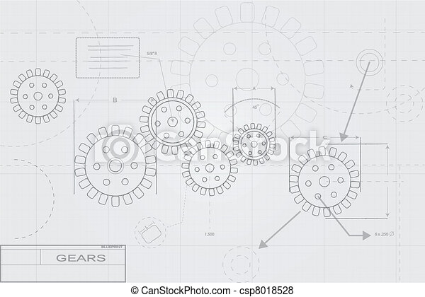 Blueprint Concept on White - csp8018528