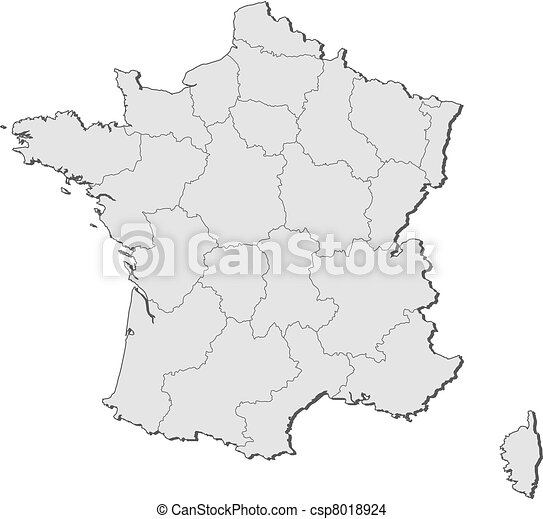 Map of France - csp8018924
