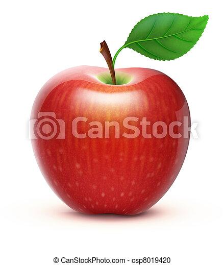 red apple - csp8019420