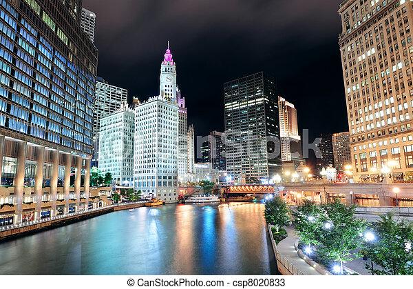 Chicago River Walk - csp8020833