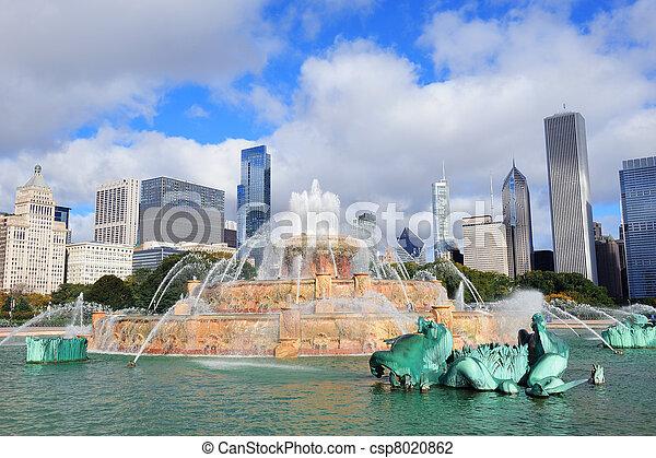 Chicago  Buckingham fountain - csp8020862