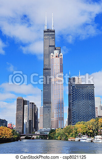 Chicago downtown skyline - csp8021125